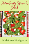 plate of strawberry spinach salad