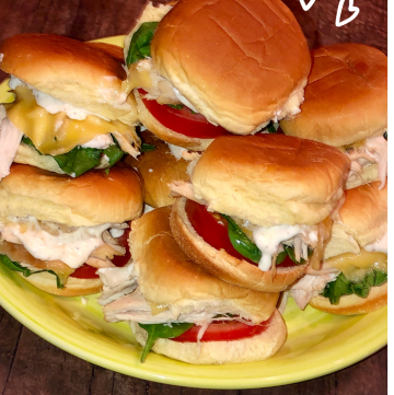 Turkey Sliders on a Plate