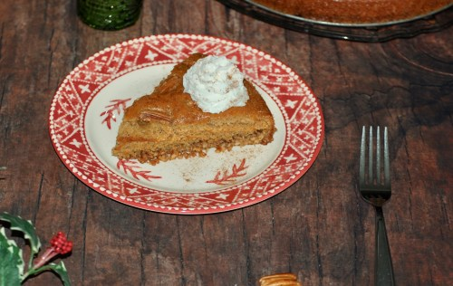 Holiday Spice Cake with a dollop of whipped cream