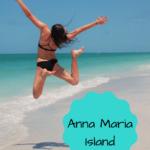 girl in a black bikini jumping happily on the beautiful beach