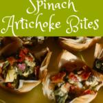 plate full of spinach artichoke bites