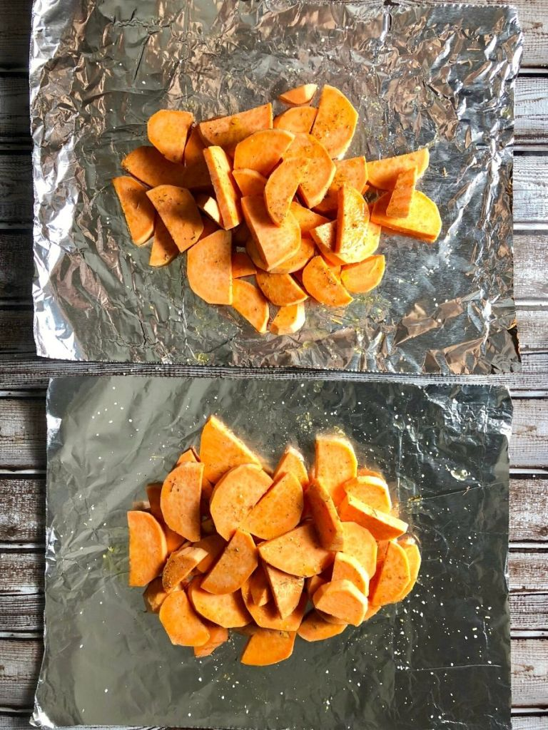 Grilled Sweet Potatoes in Foil