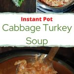 chopped onion/pepper/cabbage shaped into a heart and a pot of the cabbage Turkey Soup