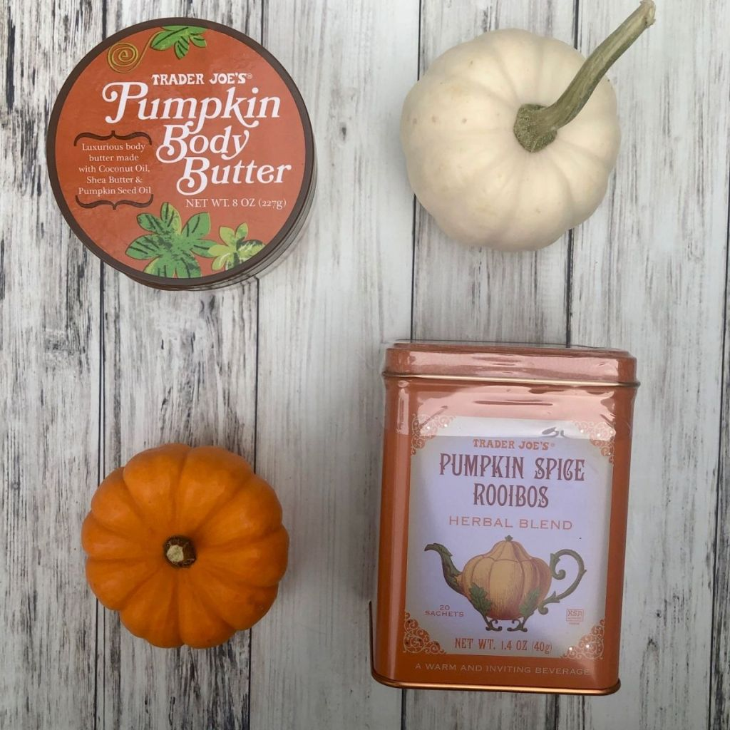pumpkin body butter and pumpkin spice herbal tea