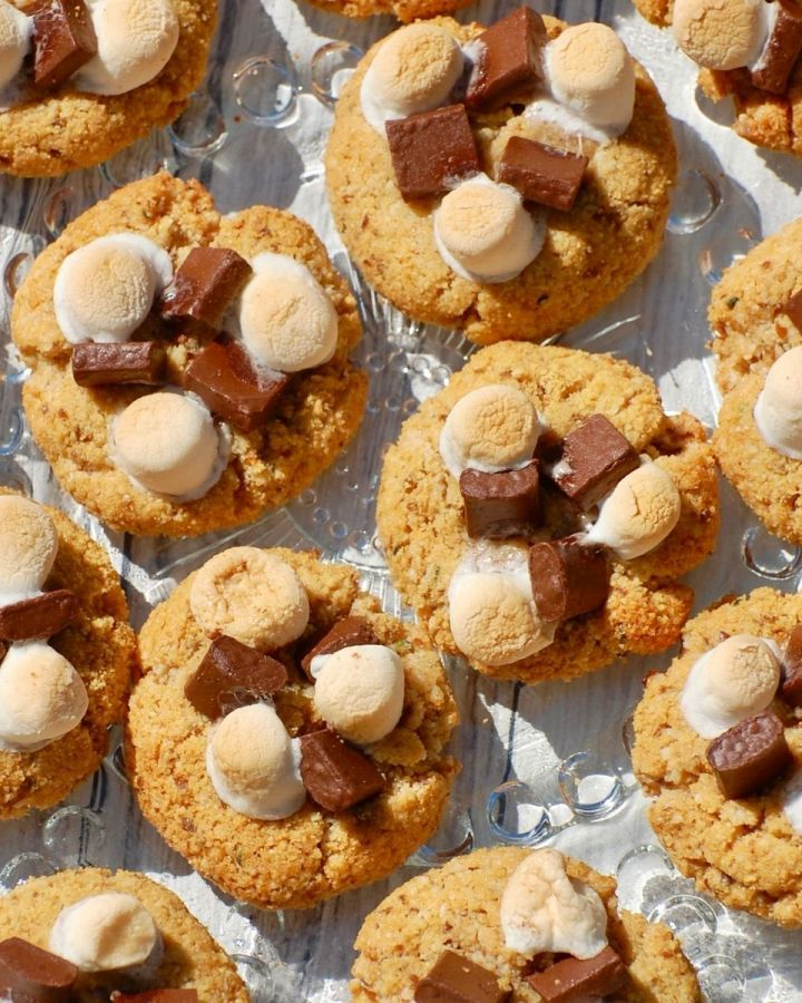 plate of s'mores cookies