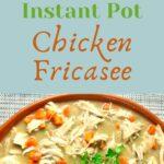 orange dish full of chicken fricasee